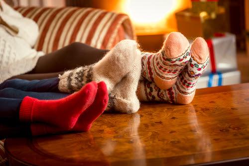 warm holiday socks