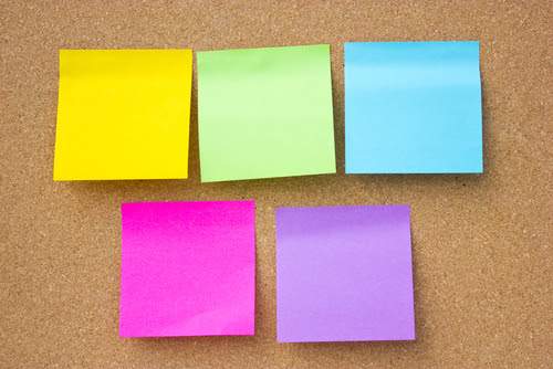 organization using post it notes